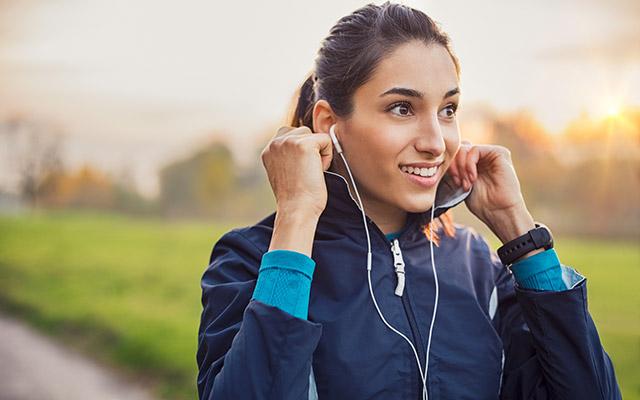 Poslušanje glasbe med tekom