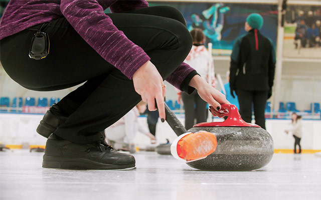 Curling obutev