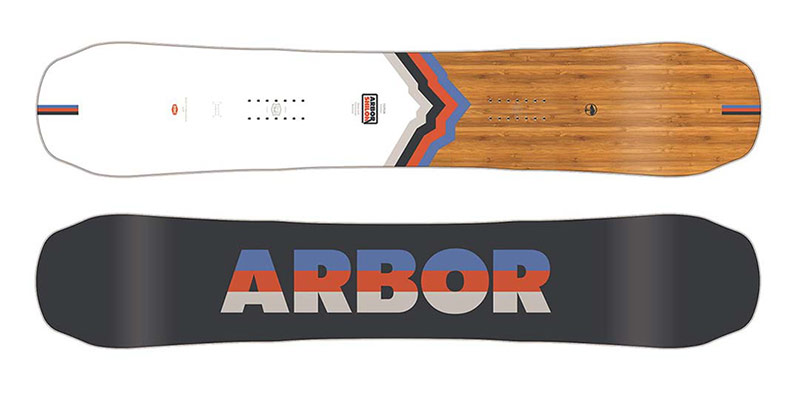 Freeride snowboard Arbor Shiloh Camber