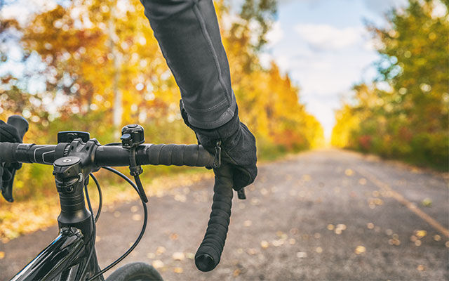 Opazovanje narave na kolesu jeseni